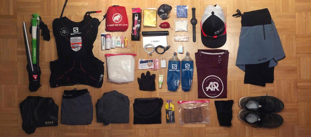 Traillrunning Rucksack packen