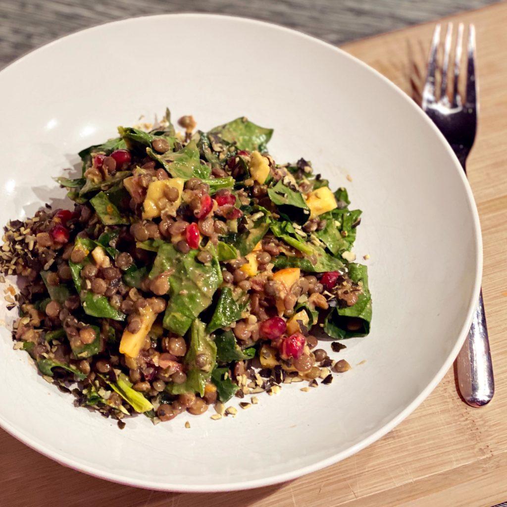 linsensalat linsen lentil Protein proteinreich Eiweiß vegan