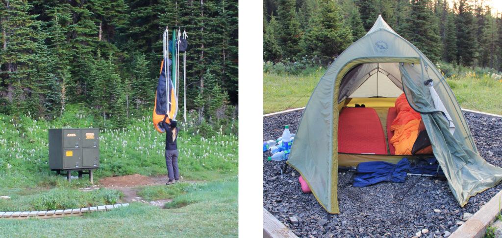 zelten am Mount Assiniboine