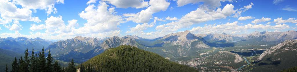 Banff von Sulphur Mountain Mount Assiniboine